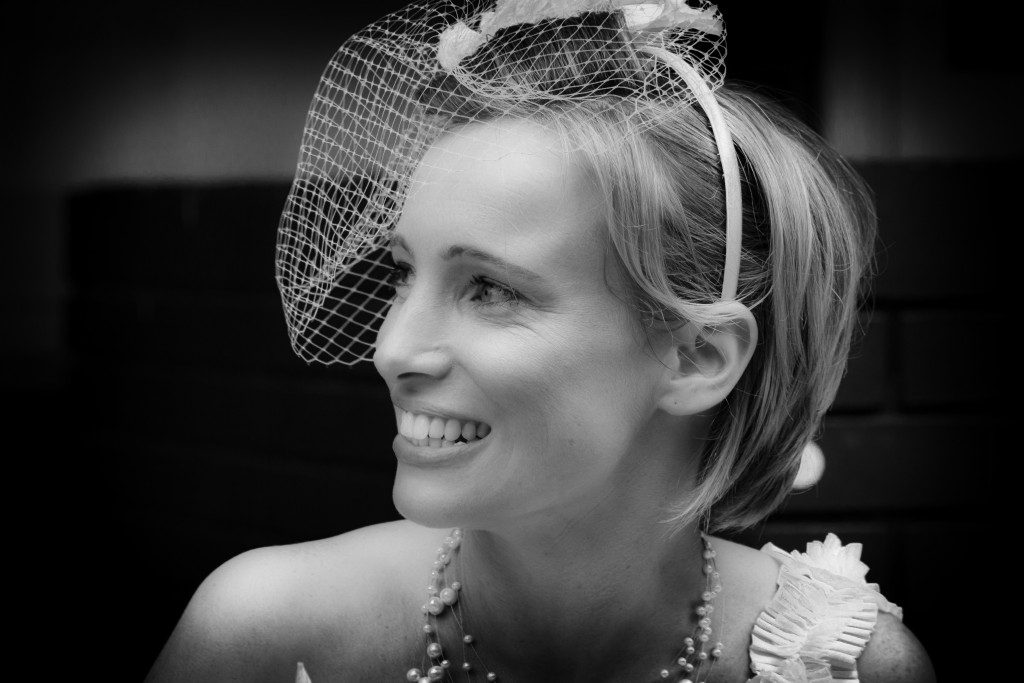 Happy Bride B&W