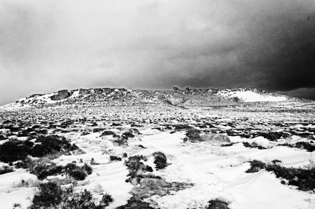 Winter view on Hathersage Moor